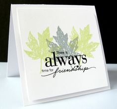 Stamping & Sharing: Simple Leaves
