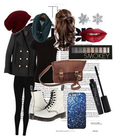 """Winter wonderland"" by geeklychic13 on Polyvore featuring M&S Collection, Dr. Martens, Balmain, Vince, NOVICA, Bling Jewelry, TheBalm, Smashbox and Forever 21"