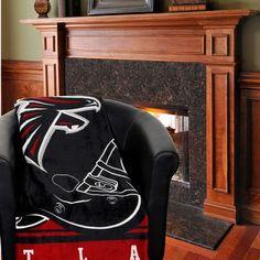 "Atlanta Falcons 60"" x 80"" Stacked Silk Touch Plush Blanket"