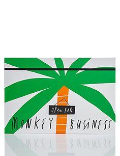 Smile Monkey Business Concertina File | M&S