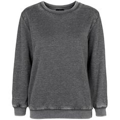 TopShop Petite Super-Soft Sweater ($36) ❤ liked on Polyvore featuring tops, sweaters, grey marl, marled sweater, topshop, jersey sweater, topshop tops and grey crewneck sweater