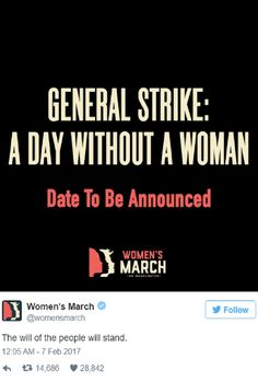 Women's March On Washington Organizers Plan A 'Day Without Women'
