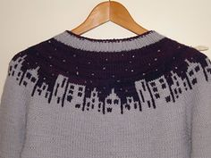 Ravelry: eudidy's Starry Night over the City Inspiration for winter/christmas jumper Knitting Charts, Knitting Stitches, Knitting Designs, Free Knitting, Loom Knitting, Knit Stockings, Stocking Pattern, Vogue Knitting, Fair Isle Knitting