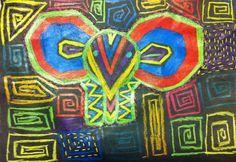 Meet The Creative Part of Me : Farverige mola mønstre lavet af 5. årgang