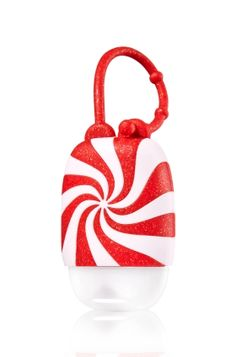 Candy Cane Swirl - PocketBac Holder - Bath & Body Works - This perfect peppermint twist for your PocketBac adds a cheerful touch of holiday shimmer. Adjustable strap attaches to your backpack, purse and more so you can always keep your favorite sanitizer close at hand.