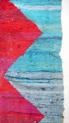 Vintage Kilim marroquí  BOUCHEROUITE alfombra zig-zag
