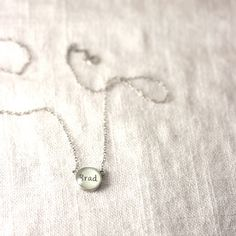 Personalized Charm Necklace with Kids Name - 1 Name, Linked, Without Beads. $24.00, via Etsy.