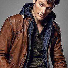 @MassimoDutti Holiday 2015 Lookbook #aw15 #leather #menswear by fashionbeanscom