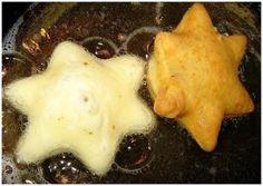 """Пышки """"Любаша"""" Ингредиенты: - 2 яйца - 3-4 ст.л. сахара - щепотка соли - ваниль - 1/2 ч.л. соды - 3 ст.л. сметаны (с горкой) - 1 ст. л . водки (необязательно). Приготовление: Яйца взбить с сахаром, добавить щепотку соли, ваниль, гашенную соду, сметану и водку. Все хорошо смешать и добавить муки. Замесить мягкое, не прилипающее к рукам, тесто. Раскатать не тонко (чуть меньше см), вырезать формочкой для печенья пышки и испечь в раскаленном растительном масле. Пышки на глазах раздуваются…"""