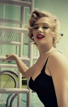 Marilyn on the set of Monkey Business, 1952 (colourised).