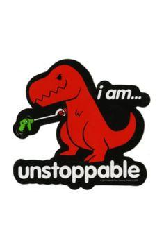 Unstoppable T-Rex Sticker