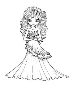 1b coloring pages | 349 Best Wedding, Dresses, Tux images | Wedding cards ...