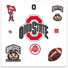 RoomMates RMK1836GM Ohio State Peel and Stick Giant Wall Decal with 3 Hooks >>> You can get more details by clicking on the image. (Note:Amazon affiliate link)