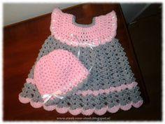 18 Ideas For Knitting Dress Pattern Baby Ravelry Baby Boy Knitting Patterns, Baby Patterns, Doll Patterns, Baby Knitting, Crochet Patterns, Crochet Girls, Hand Crochet, Crochet Baby, Cape Bebe