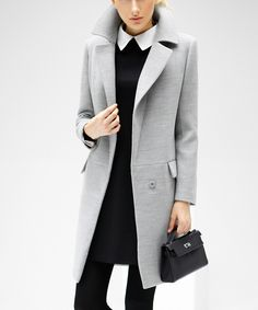Grey long-sleeved winter coat by COCOBELLA on secretsales.com