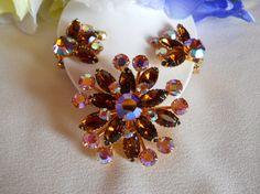 Vintage Beau Jewels Rhinestone Brooch and by JanesVintageJewels, $45.00