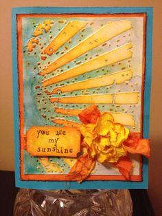 Birthday Card using Tim Holtz embossing card.