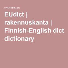 EUdict | rakennuskanta | Finnish-English dictionary