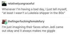 i imagine it's about the same as the faces of those disgusting wretches who ship kylo and rey will be when the next movie comes out