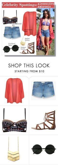 """""""Celebrity Spottings: Alessandra Ambrosio"""" by yellowgrapes ❤ liked on Polyvore featuring WearAll, MANGO, River Island and Charlotte Russe"""