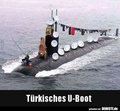 Türkisches U-Boot. Wtf Funny, Hilarious, Funny Jokes, Military Jokes, Funny Turkey, I Love To Laugh, Grumpy Cat, Funny Pins, Satire