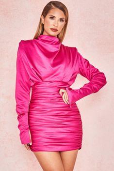 8 Best Pink satin dress images in 2019 cd329dd6c