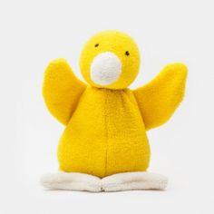 Babyrassel Frottee-Püppchen Nesthocker, gelb
