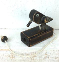 Novelty wooden bird door knocker by GilbertandCrick on Etsy