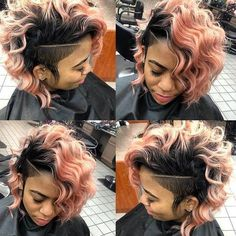 Hairstyles black women weave healthy hair 29 Ideas for 2019 Shaved Side Hairstyles, Quick Weave Hairstyles, Cool Hairstyles, Black Hairstyles, Curly Mohawk Hairstyles, Mohawk Updo, Hairstyle Ideas, Bob Hairstyle, Girl Short Hair