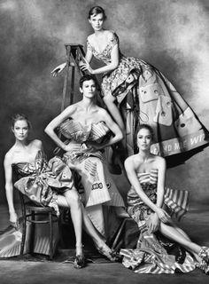 Campagne Moschino - Carolyn, Karen, Raquel, Stella, Saskia + Linda - Automne/hiver 2013-2014 by Steven Meisel