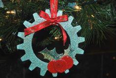 Gear wreath by Jamie Pope