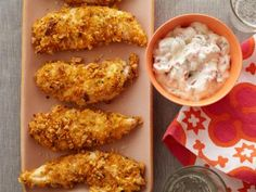 Homemade Frozen Chicken Fingers--Prepare and freeze them ahead of time, then just take them out to bake when you're ready to eat