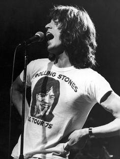Mick Jagger Wearing Himself On A T-Shirt