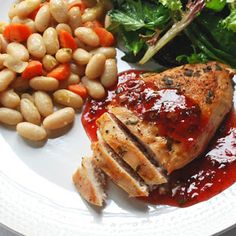 Grilled Chicken with Strawberry Balsamic Vinegar Sauce