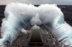 Navy ship in rough sea weather.  Time for the dramamine doc.