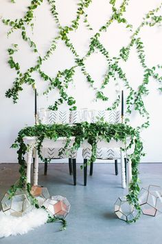 Winter Wedding Inspiration with Greenery Backdrop - http://ruffledblog.com/winter-wedding-inspiration-with-greenery-backdrop photo Yasmin Sarai