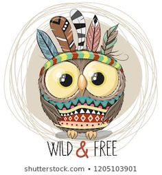 Find Cute Cartoon tribal Owl with feathers on a white background stock vectors and royalty free photos in HD. Explore millions of stock photos, images, illustrations, and vectors in the Shutterstock creative collection. Tribal Fox, Tribal Animals, Cartoon Mignon, Cute Owl Cartoon, Owl Feather, Feather Vector, Art Mignon, Owl Vector, Owl Illustration
