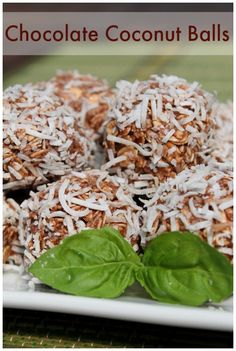 Healthy Chocolate Coconut Balls made with IsaLean Dutch Chocolate!