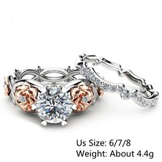 Cheap best Sweet Zircon Inlaid Rose Gold Flower Heart Hollow Diamonds Rings Unique Engagement Rings for Women - NewChic Mobile