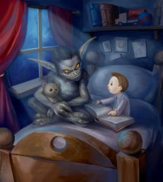 My_Best_Friend_by_Beloved_Creature creepy kids scary story nightmare halloween My Best Friend, Best Friends, Child Abuse Prevention, Monster Under The Bed, My Demons, Gaming Memes, Illustrations, Bedtime Stories, Horror Art