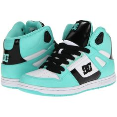 DC Rebound Hi W (73 CAD) ❤ liked on Polyvore featuring shoes, sneakers, dc shoes, cushioned shoes, lightweight shoes, lightweight sneakers and print sneakers