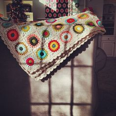 Sunburst Granny Square Afghan   Paper Box Quilt Co.