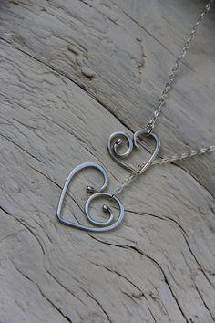 Sterling silver silver 925  Beautiful hearts by Keepandcherish, $35.00