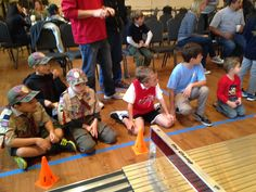 Waiting at the Finish Line #pinewoodderby2016