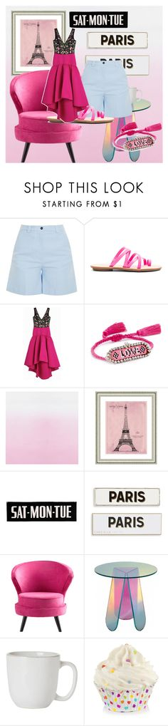 """""""pink beauties"""" by donna-wang1 ❤ liked on Polyvore featuring Acne Studios, Loeffler Randall, Notte by Marchesa, Shourouk, Vintage Print Gallery, Rosanna, Cyan Design and Juliska"""