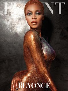 Fab Glance Fashion & Style: MODEL BEHAVIOR: Beyonce is covered in gold for Flaunt Magazine