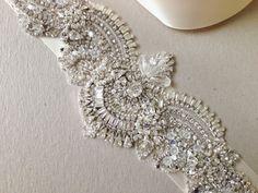 Beaded Wedding Sash - Ugo 14 inches ( 1 qty ready to ship) on Etsy, $278.70 AUD