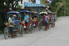 Half-Day Off the Beaten Track Bangkok Tour by Walking and Rickshaw A behind-the-screen tour of authentic Bangkok. Away from modern Bangkok, this exploration touches the essence of what Bangkok truly is. From local temples to plantations, a tour where a 'samlor' and your feet are the means to see what others may not see.Your driver will pick you up from your hotel in Bangkok and drive you to the meeting point, south of the city center. Meet you guide and head out into the authe...