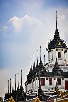 Temple Spires, Bangkok, Thailand