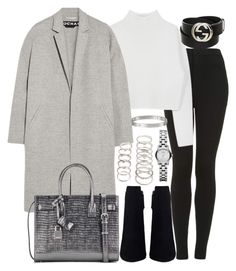 """""""Untitled #3014"""" by theeuropeancloset ❤ liked on Polyvore featuring Topshop, Dion Lee, Rochas, Yves Saint Laurent, Forever 21, Marc by Marc Jacobs and Gucci"""